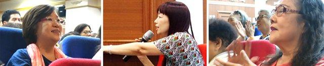 觀眾沉醉於純青合唱團精湛的表演,以及 徐珍娟 老師(中)與觀眾有趣的互動。