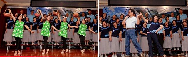 純青合唱團和諧的歌唱搭配精彩的舞蹈演出更顯生動。