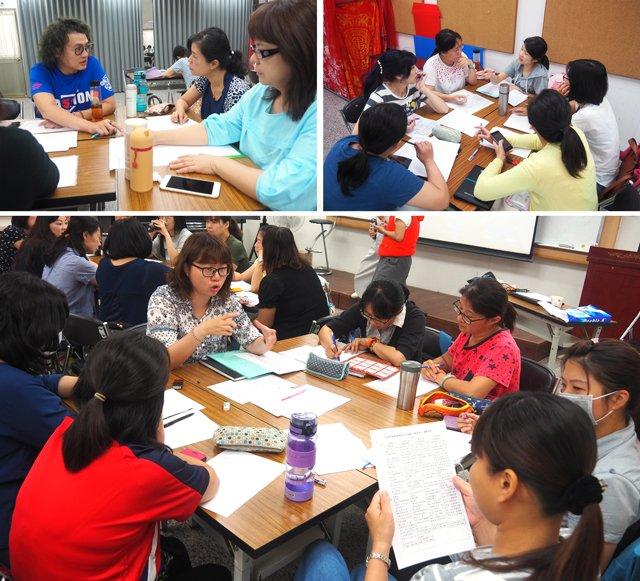 陪伴老師們透過小組方式實際練習課程設計。